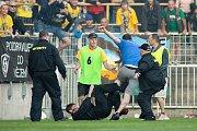 Zápas 26. kola Fortuna národní ligy SFC Opava - FK Dynamo České Budějovice 5. května 2018 v Opavě.