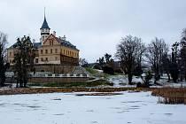Opavsko, krajina od sněhem, 14. ledna 2021.