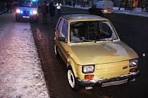 Pondělní dopravní nehoda na Olomoucké ulici.