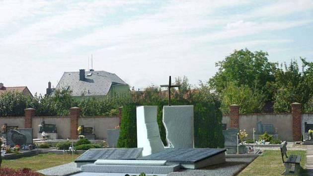 Vizualizace. Hřbitov v Dolním Benešově v příštím roce čeká jedna podstatná změna. Vyroste zde totiž památník místním občanům, kteří padli během druhé světové války. Jeho podobu navrhl umělec a architekt Gotthard Janda.