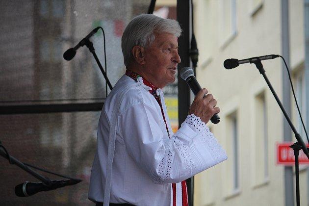 Jožka Černý vystoupil před natěšenými Opavany na Babím gastro festivalu.