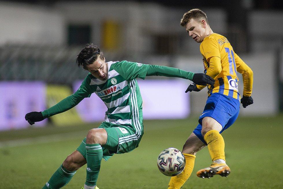 Opava - Dohrávka zápasu 14. kola FORTUNA:LIGY mezi Bohemians Praha 1905 a SFC Opava 27. ledna 2021. Patrik Hellebrand (SFC Opava).