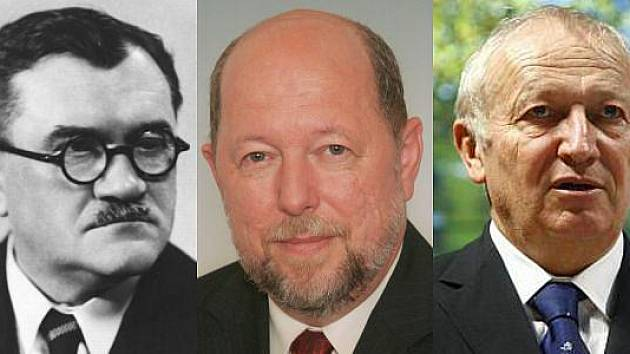 Zleva: Karel Engliš, Petr Lachnit a Eduard Janota.