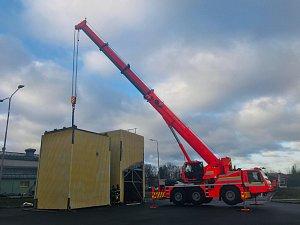Převoz cvičné věže pro hasiče