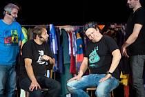 Zábavná improvizační show Partička si stačila najít spoustu příznivců. Hlavní protagonisté zleva: Michal Suchánek, Igor Chmela, Richard Genzer a Ondřej Sokol.