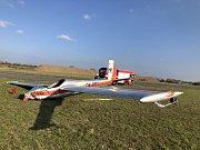 Havarované letadlo na letišti v Zábřehu na Opavsku.