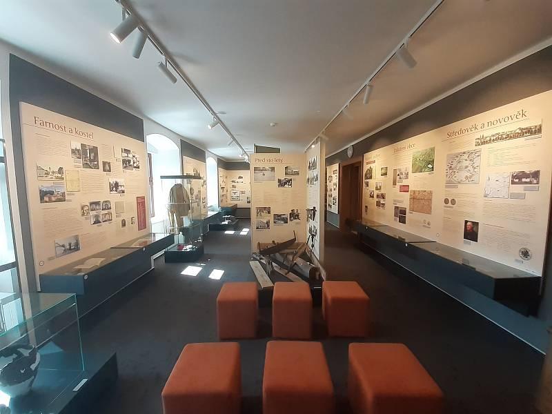Expozice o historii obce na oldřišovském zámku.