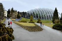 Tak by měla vypadat nová skleníkové expozice arboreta.