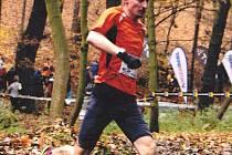 Aleš Zajíc na trati Velké Kunratické. Loni doběhl druhý, letos v kategorii M40 triumfoval.