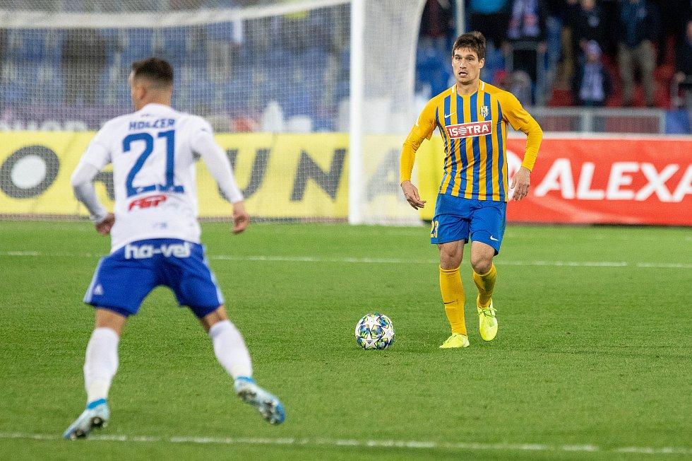 Utkání 18. kola fotbalové Fortuna ligy: FC Baník Ostrava - SFC Opava, 29. listopadu 2019 v Ostravě. Na snímku (vpravo) Jaroslav Svozil.