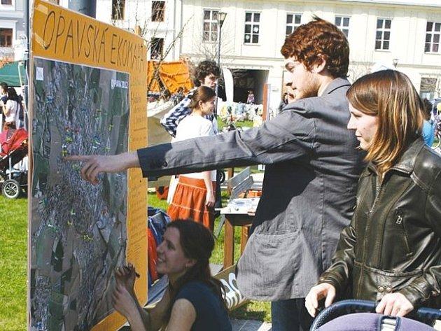 Poprvé byl projekt Ekomapy představen Opavanům letos v dubnu v rámci Dne Země.