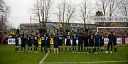 Pardubice - Zápas Fortuna národní ligy FK Pardubice - SFC Opava 8. dubna 2018. Fanoušci SFC Opava.