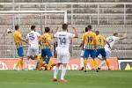 Brno - Zápas 6. kola fotbalové FORTUNA:LIGY mezi SFC Opava a MFK Karviná 25. srpna 2018 na Městském stadionu v Brně. Gól Karviná.