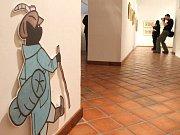 Vernisáž výstavy Josef Lada přilákala do útrob opavského Domu umění desítky návštěvníků.