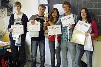 Vítězný tým z vítkovského gymnázia.