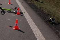 Záběry z míst nehody