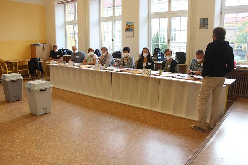 Sněmovní volby v Opavě, 8. října 2021.