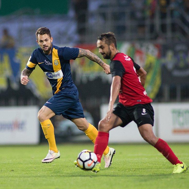 Zápas 5. kola Fortuna národní ligy SFC Opava - FC MAS Táborsko 22. srpna 2017 v Opavě.Petr Zapalač - o