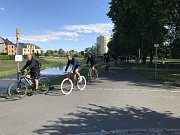 Fotbalisté SFC na soustředění do Kravař vyrazili na kolech.