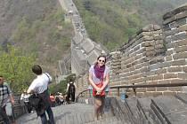 Tereza Malá se například nechala zvěčnit u Velké čínské zdi.