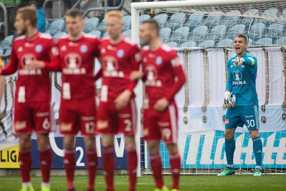 Opava - Zápas fotbalové FORTUNA:LIGY mezi SFC Opava a SK Sigma Olomouc 13. dubna 2019. Miloš Buchta (SK Sigma Olomouc).