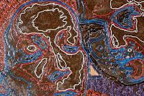 Na výstavě v Galerii Albertovec je zastoupena i práce Ivany Štenclové. Na snímku je dílo nazvané P+M z roku 2007.