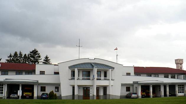 Budova územního oddělení záchranné služby v Opavě.