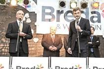 Radim Bajgar (vpravo) je protagonistou obchodně-společenského centra Breda & Weinstein.