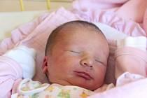 """Liliana Chmelová se narodila 1. července, vážila 3,08 kg a měřila 49 cm. Rodiče Adéla s Robinem ze Stěbořic své první dceři přejí """"ať roste do krásy""""."""