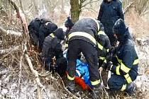 Záchrana šestapadesátileté ženy, která upadla na břehu řeky Opavy nedaleko Hlučína a více než čtyřiadvacet hodin čelila silnému mrazu.