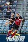 Zápas 5. kola Fortuna národní ligy SFC Opava - FC MAS Táborsko 22. srpna 2017 v Opavě.