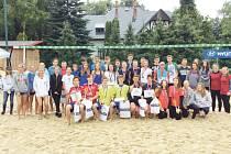 Aktéři republikového mistrovství žaček a žáků, které se konalo v areálu opavského Happy sportu.