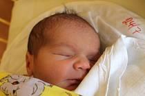 """Dominik Zrník se narodil 8. ledna, vážil 3,32 kg a měřil 49 cm. """"Hlavně zdraví,"""" popřáli mu rodiče Kamila a Tomáš ze Životic. Doma už se na něj těší bráška Tomáš."""