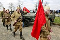 Vzpomínková akce v Sudicích za padlé vojáky osvobozenecké armády.