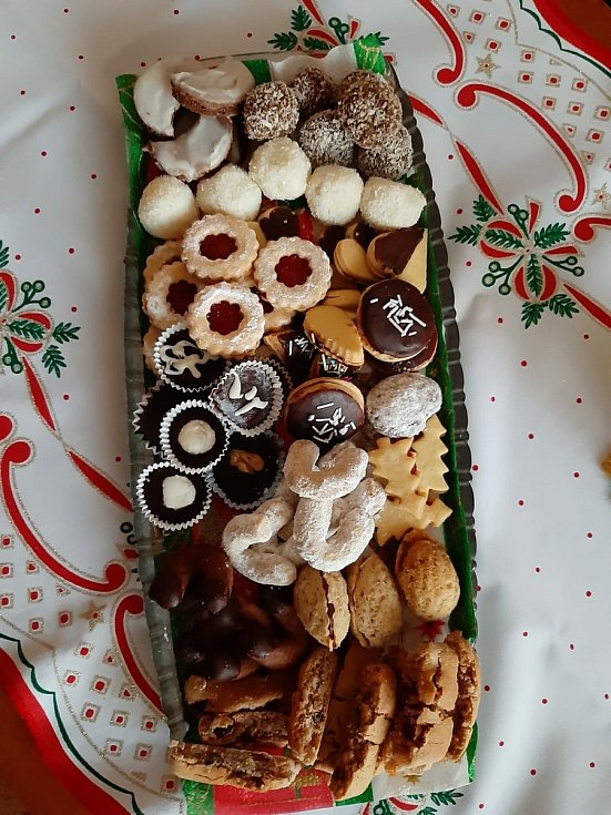 Vánoční cukroví.
