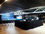 Administrativním centru mezinárodní basketbalové federace FIBA, které se nachází ve švýcarské obci Mies nedaleko Ženevy.