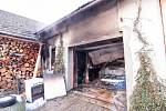 Patrně přímotop stojí za vznikem požáru garáže ve Skřipově, který v pondělí odpoledne zaměstnal šest jednotek hasičů.