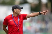 Brno - Zápas 6. kola fotbalové FORTUNA:LIGY mezi SFC Opava a MFK Karviná 25. srpna 2018 na Městském stadionu v Brně. Trenér SFC Opava Roman Skuhravý.