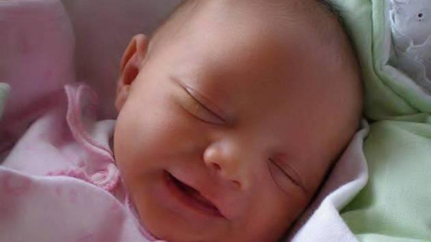 Markéta Hrbáčová se narodila 4. prosince,  vážila 3,38 kg a měřila 50 cm.