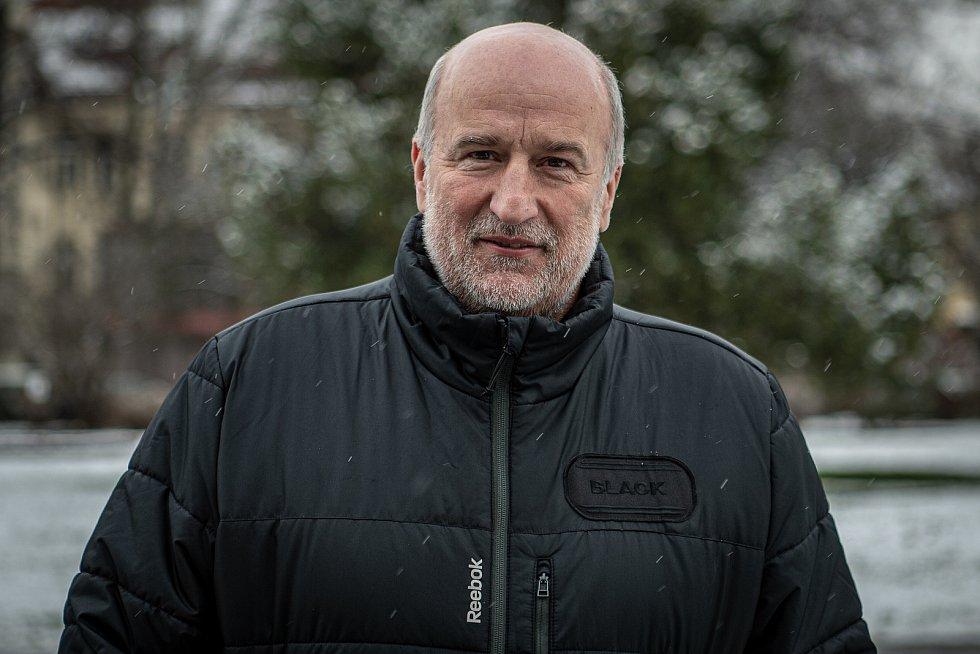 Hokejový trenér Jiří Režnar poskytl Deníku rozhovor, 7. ledna 2021 v Opavě.