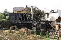Požár zahradního domku v Bělé.