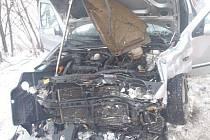 Dopravní nehoda dvou osobních automobilů u Vávrovic.