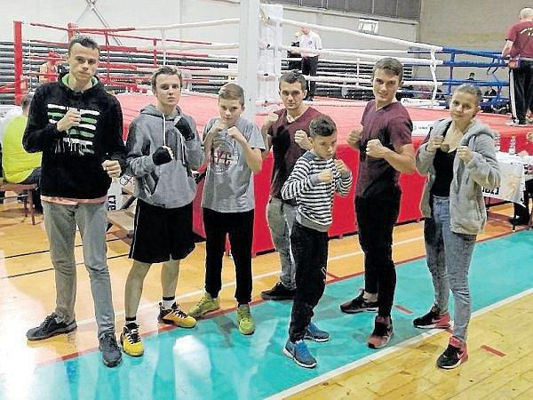 Opavští Rivalové na oblastním ligovém kole v boxu v Ostravě.