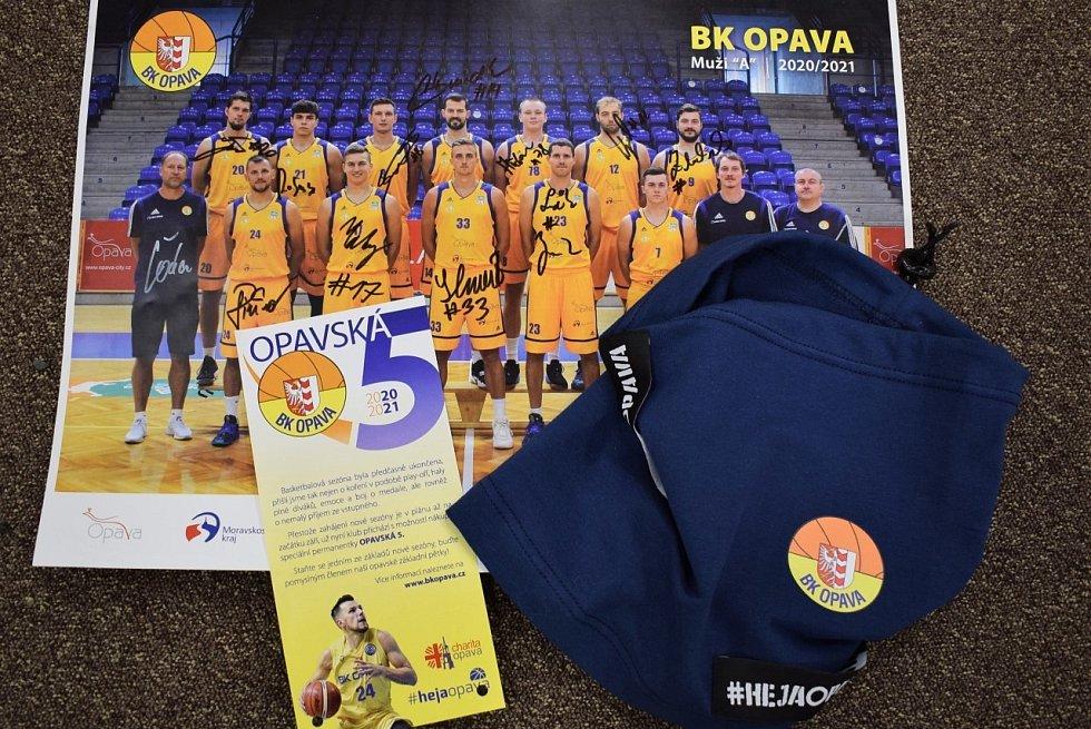 Opavská pětka je název projektu na podporu opavského basketbalu, deptaného pandemií.