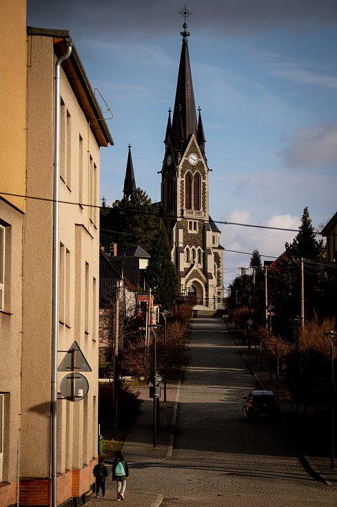 Město Vítkov, nachází se v okrese Opava v Moravskoslezském. Snímek z března 2020.