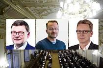 Poslanci z Opavy - (zleva) Zbyněk Stanjura, Igor Hendrych, Michael Rataj.