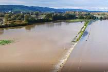 Povodně, Dolní Benešov, 15. října 2020.