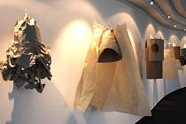 Žáci výtvarného oboru Základní umělecké školy J. P. Vejvanovského vystavují v těchto dnech své papírové výtvory.