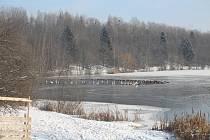 Zima v Opavě. Pondělí 18. ledna 2021.