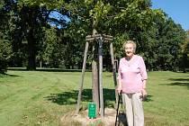 Alžběta Cieslarová je manželkou jednoho z největších průkopníků golfu u nás. Na hřišti v šilheřovickém zámeckém parku má vysazen také rodinný strom.